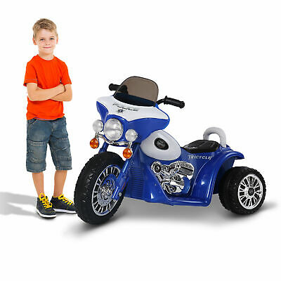Electric Motorbike Kids Ride On Toy Tricycle Children Gift Blue 6V Battery PP