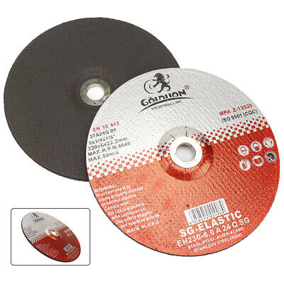 "9"" 230mm Resin Cutting Disc Metal Cut Off Wheel For Metalworking With 22mm Bore"
