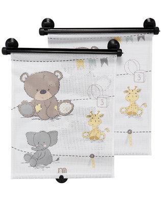 MC - Retractable Sunblind (4 Pack) - 2 Designs / Black & Teddy's Toy Box