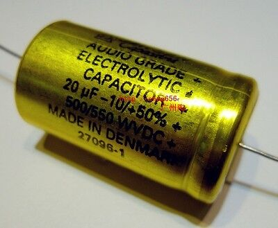 Original 200UF 500V JENSEN  Hi voltage axial electrolytic Capacitor #1020 XH