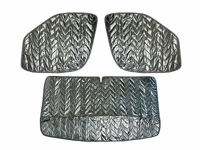 Internal Thermal Screen 3pc Silver Blind Window Insulation Fiat Ducato (2006 on)
