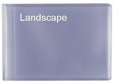 Plastic Credit Card Inserts 6 Sleeves Landscape Style