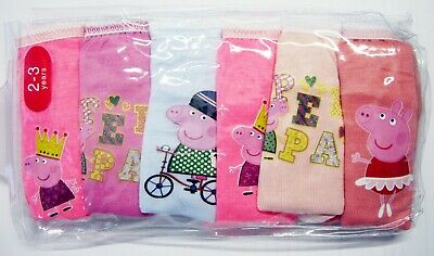 undies Peppa Pig knickers 6pc girls Briefs new cartoon panties cotton underwear