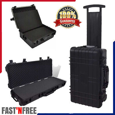 Transport Hard-Case with Foam Carrying Case Tool Storage Trolly Box Equipment