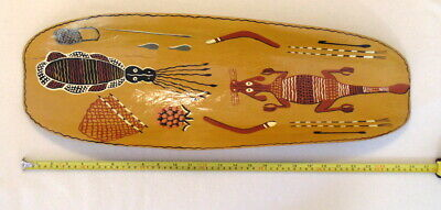 Vintage Aboriginal coolamon - hand made - mulga wood - rare - collectable