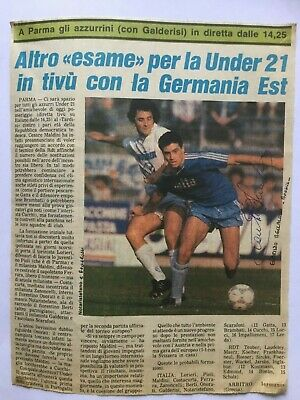 Autografo originale EVARISTO BECCALOSSI-Brescia Calcio 87/88-IN PERSON! Ex-Inter
