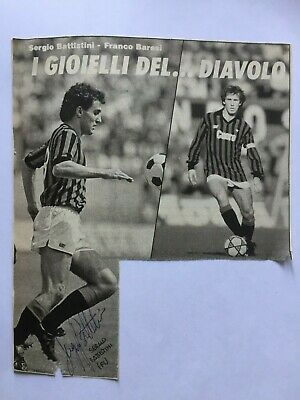 Autografo originale SERGIO BATTISTINI-Fiorentina 87/88-Ex-Milan/Inter-IN PERSON!