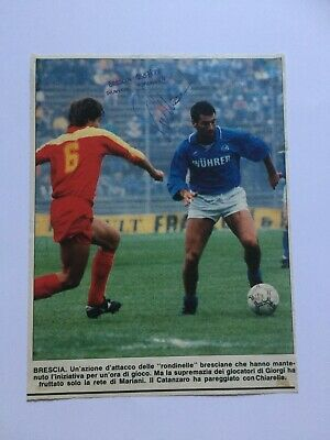 Autografo originale FRANCO TURCHETTA-Brescia Calcio 87/88-Ex-Verona-IN PERSON!