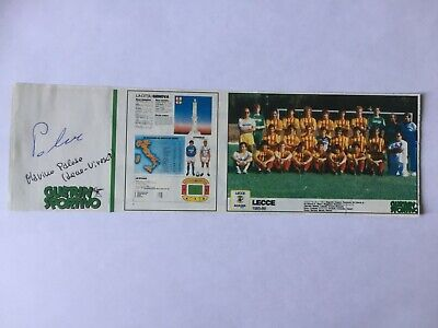 Autografo originale MARINO PALESE-US Lecce 85/86-Ex-Como/Atalanta-IN PERSON (2)