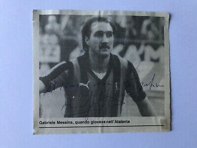 Autografo originale GABRIELE MESSINA-Atalanta Bergamo 80/81-Ex-Bari-IN PERSON