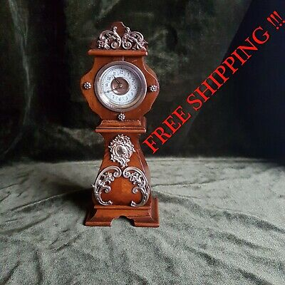 0279 - RARE Antique Miniature Grandfather Clock Boulle style