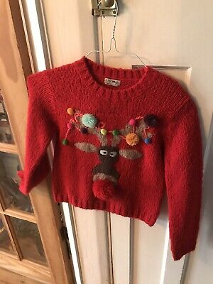 Next Girls Christmas Jumper Age 8 Years