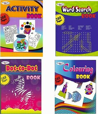 A4 - Word Search/Colouring/Activity/Dot-to-Dot Books - Ideal Surprise For Kids