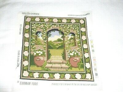 Ehrman Walled Garden completed wool tapestry needlepoint E Belchamber unframed