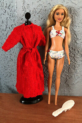 Ooak Barbie Doll In Clothes  Lot