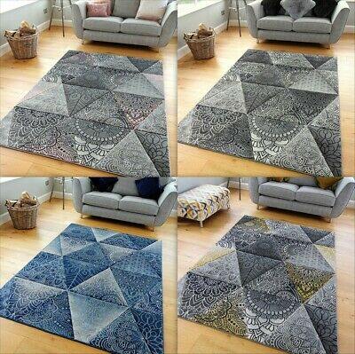 New Modern Small Large Carved Quality Thick Mosaic Floor Carpet Runner Rugs Mats