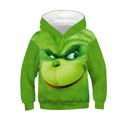 Childrens Kids Girls Boys Unisex Casual The Grinch Cute Elephant Sweater Hoodies