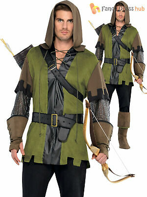 Mens Robin Hood Costume Adult Prince of Thieves Fancy Dress Medieval Book Film
