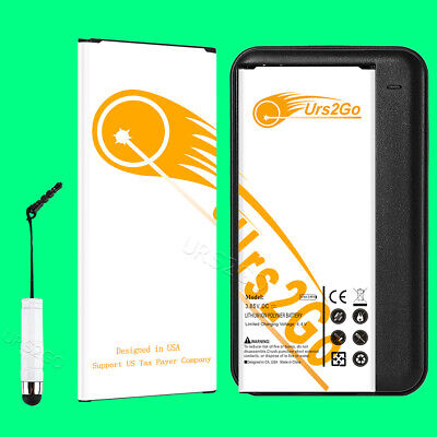 2x 6980mAh Spare Battery w/ Dock Charger Stylus for Samsung Galaxy Note 4 N916K