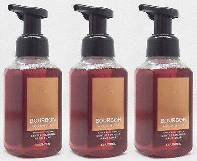 3 Bath & Body Works BOURBON Mens Collection Gentle Foaming Hand Soap