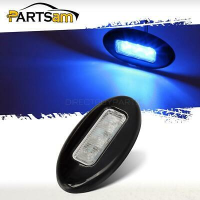 2xBoat RV Waterproof LED Fantasy Blue Courtesy Floor Down Light 12//24V 0.24W