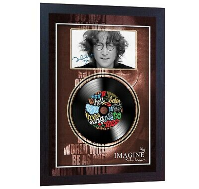 NEW! John Lennon Imagine MUSIC  SIGNED FRAMED PHOTO LP Vinyl