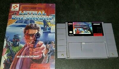 Lethal Enforcers with Manual (Super Nintendo SNES) AUTHENTIC