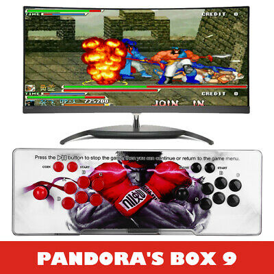 Pandora's Box 9 1500 in 1 Video Game Gaming 2 Player Arcade Console VGA 3D Red
