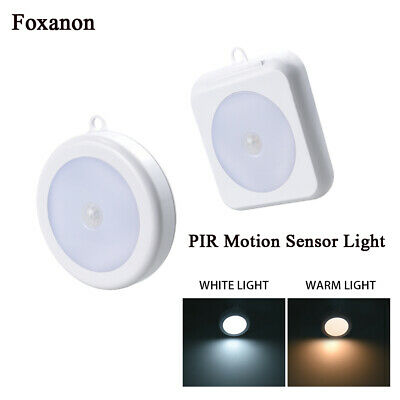 LED PIR Motion Sensor Night Light Infrared Wireless Wall Lamp Battery Powered