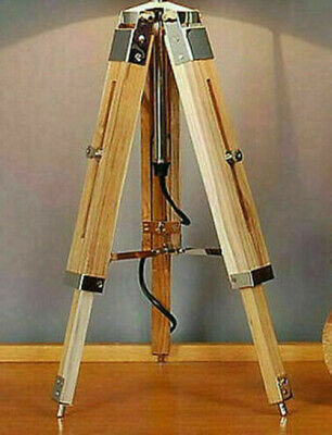 Wooden Tripod Floor Lamp with adjustable height 70 cm for floor light/shade NEW