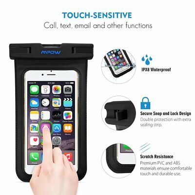 Mpow Floating IPX8 Waterproof Case Dry Bag &Armband for iphone 7/6p/6s/5s LG AE