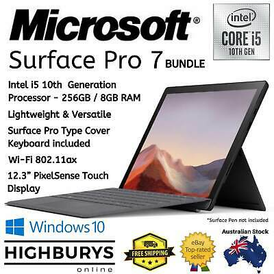 "Microsoft Surface Pro 7 12.3"" Intel Core i5 10th Gen 8GB RAM 256GB SSD Win10 NEW"