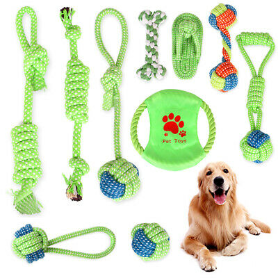 1Pc Dog Rope Chew Toys Kit Tough Strong Knot Ball Pet Puppy Cotton Teething Toy