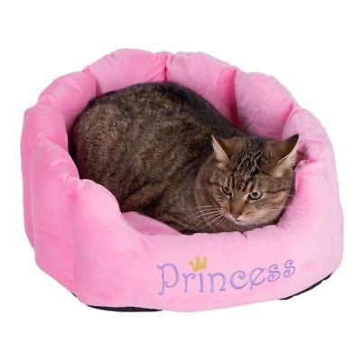 Cat Bed Small Cosy Pink Snuggle Bed Soft Plush Heart Shaped Cushion