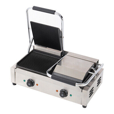 3.6Kw Commercial Panini Grill Sandwich Toaster Maker Dual Top Press Griddle