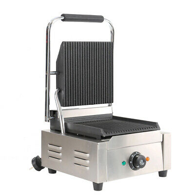 Commercial 1800w Electric Sandwich Toastie Maker Panini Grill Press Toaster UK