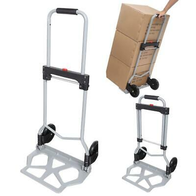 220LB Folding Cart Hand Truck Convertible Push Dolly Collapsible Trolley Luggage