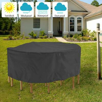 210D Round Heavy Duty Covers Garden Outdoor Patio Furniture Table Waterproof