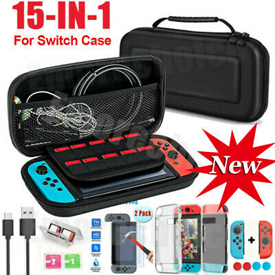 For Nintendo Switch / Lite Travel Case Bag+HD Screen Protector+Cover Accessories