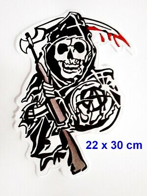Ecusson SONS OF ANARCHY 30cm faucheuse reaper biker Patch Parche Toppa Aufnäher