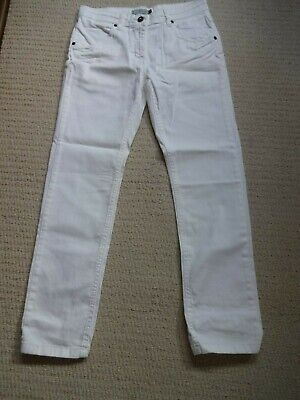 Debenhams Red Herring White Stretch Jeans Age 13 Brand New With Tags
