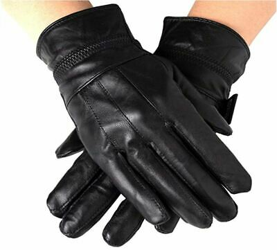 Winter Leather Gloves for Women Wool Fleece Lined Warm Gloves Snow Driving Glove