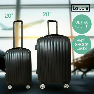 2PC Luggage Suitcase Trolley Set TSA Travel Carry On Bag Hard Case Lightweight