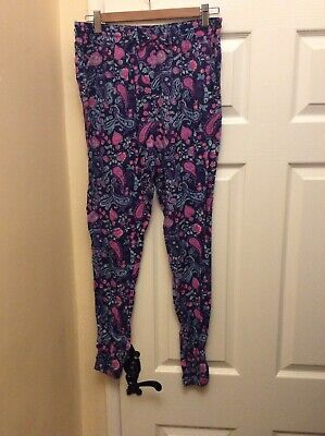 Girls Floral Pants Age 13-14 Cuff Bottom, Elasticated Waist BNWOT.    83/11