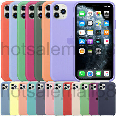 Original Case For Apple Iphone 11 Pro Max Xs Xr 8 7 Plus Genuine Silicone Cover