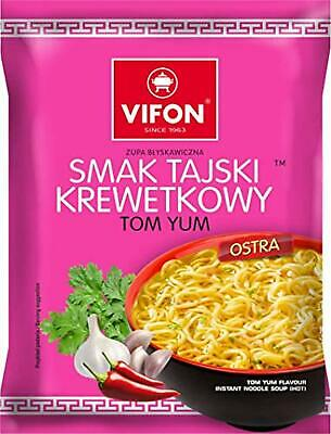 VIFON Tom Yum Instant Noodles - 70G - Hot (Pack of 24)