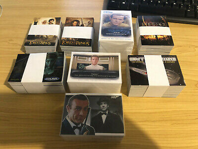 Star Trek, Star Wars, LOTR, James Bond, RIDDICK - 7 Complete Card BULK SETS - NM
