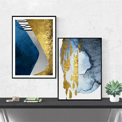 Abstract Gold Prints Canvas Poster Picture Wall Hangings Home Art Decor Unframed