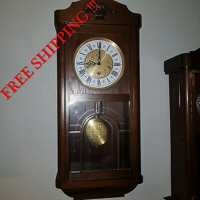 0278 - German Jauch Westminster chime wall clock