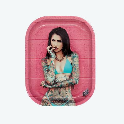 Rolling Tray (tatted lady) 7x5 a1031